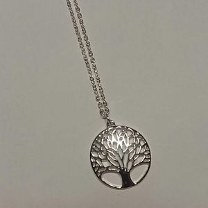 Tree hugger necklace 925 nature plant life lover